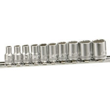 "Genius Tools 10 Piece 1/4""Dr SAE Hand Socket Set (12-Point) TW-210S"