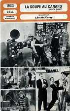 Movie Card. Fiche Cinéma. La soupe au canard/Duck soup (USA) 1933 Léo Mc Carey