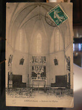 cpa 38 grenay interieur de l' eglise