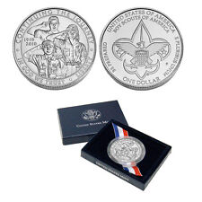 2010 Boy Scout Commemorative Silver Dollar Coin (Box/COA)