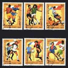 Football Afghanistan (2) série complète 6 timbres oblitérés