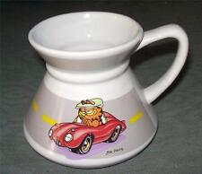 Garfield in Red Sports Car Travel Non-Slip Cup Mug Jim Davis 1978 Enesco