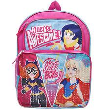 DC Superhero Wonder Woman Supergirl Batgirl Girls Backpack