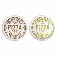 N. 6 piatti pizza ceramica D.31 cm marrone e verde EX-60506 piatto idea regalo