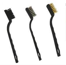 3x cepillos de alambre de latón de nylon de acero inoxidable cepillo práctico