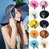 Straw Hat Summer Sun Floppy Wide Brim Women New Lady Beach Hat Derby Cap Fold
