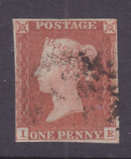 Sg 8 1d Red Imperf Ie Plate 21 with Maltese Cross Cat £60