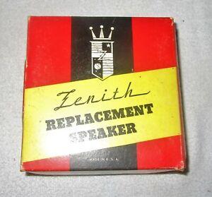 One Vintage NOS Zenith Replacement Speaker Part #49-854