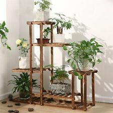 Strong 5 Tier Wooden Plant Stand Flower Pot Storage Rack Indoor Garden Bedroom