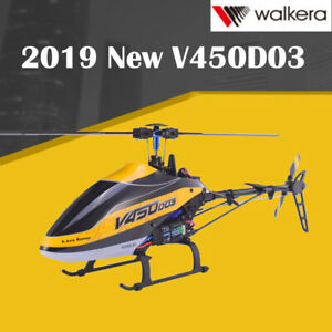 2019 Walkera V450D03 6CH 3D Fly 6-Axis stable System Single Blade BNF Helicopter