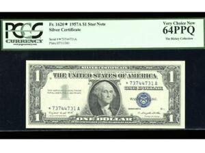 1957-A $1 Silver ⭐️STAR Fr. 1620* PCGS 64 PPQ Serial *73744731A