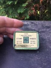 ANTIQUE 1000 PEERLESS STAMP HINGES ADVERTISING TIN- # L