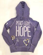 Victoria's Secret Pink Women's Hoodie Small EUC Peace Love Hope