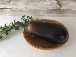 1 Artificial Faux Purple Eggplant Fake Vegetables Decor Theater Prop Staging
