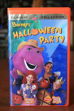 Barney & Friends - Barney's Halloween Party - BJ/Baby Bop - 1998 VHS - Clamshell