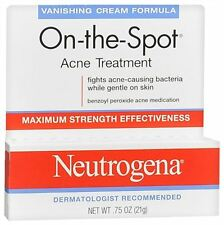 Neutrogena On-The-Spot Acne Treatment Vanishing Cream Formula 0.75 oz (7 pack)