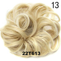Stylish Pony Tail Women Clip in/on Hair Bun Hairpiece Extension Scrunchie Beauty