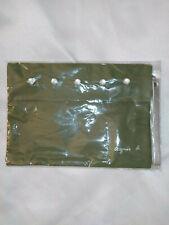 AGNES B. pochette bag sac toile avec sangle et boutons nacrés vert khaki silver