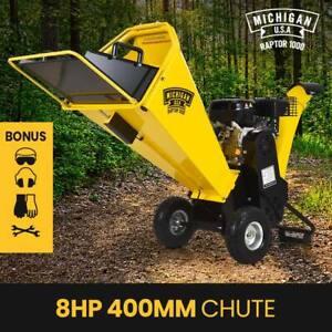 MICHIGAN 8HP Wood Chipper Mulcher Machine Petrol Garden Shredder Portable