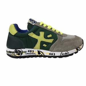 PREMIATA Sneakers bassa scarpe ragazzo MICK BEIGE VERDE 11-41449 MADE IN ITALY
