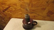 Antique Purple Glass Little Butter Cup Finger Lamp  No. 2