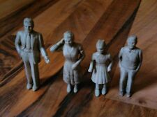 old vintage antique toy family man woman boy girl maybe hard rubber figurines