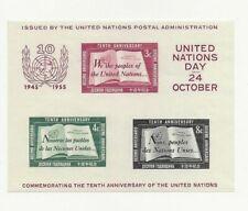 UNITED NATIONS SC# 38 MNH SOUVENIR SHEET