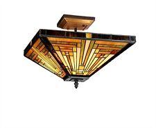 Chloe Lighting Tiffany Style 2 Lt Semi Flush Ceiling Lamp CH33359MR14-UF2