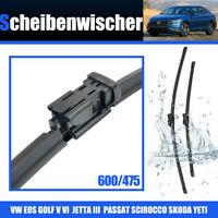 Escobillas Limpiaparabrisas para SKODA YETI VW EOS GOLF V 600/475mm Wiper