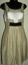Alberta Ferretti ivory casual  dress in linen/silk-solid colorsS(4)sleeveless