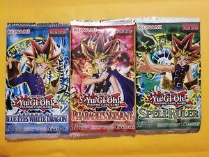Yu-Gi-Oh TCG Booster Packs - Legend of Blue Eyes, Spell Ruler, Pharaoh's Servant