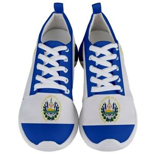 New El Salvador Flag Men's Athletic Sports Running Shoes