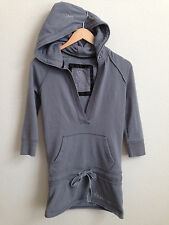Womens Abercrombie and Fitch Hoodie Tunic 3/4 Sleeve Gray size S