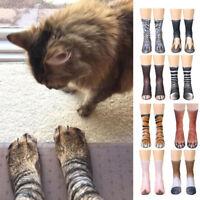 Stylish Unisex Animal Funny Printed Socks Adult Animal Paw Crew Hosiery