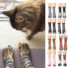 Fashion Adult Animal Paw Crew Socks Women Men Animal Novelty Printed Funny Socks