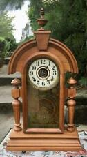 Ingraham 8 Day Time & Strike Mantel Clock Running Well with Alarm