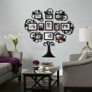 12PC Family Tree Photo Picture Frame Collage Wall Art Home Sticker Decor K