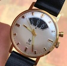Vintage Lip STOP Gold Plated Mens Watch Lip R870 Hand-winding 33,8mm
