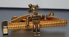 Vtg National Screw Manufacture Company Advertising Nat robot TIE BAR Clip Kinney
