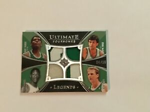 2008-09 UD Ultimate Collection Bill Russell Larry Bird CELTICS GU Quad Patch /10