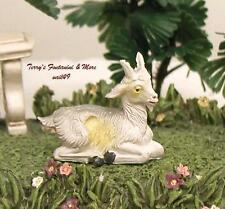 "FONTANINI DEPOSE ITALY 4"" SERIES COLOR SEATED GOAT NATIVITY VILLAGE ANIMAL NEW"