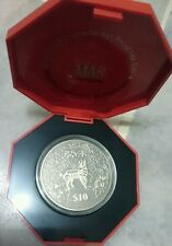 Singapore 2003 Goat Sheep Lunar Zodiac New Year Proof-like CuNi Coin $10 dollars
