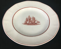 """1 Salad Plate Wedgwood Flying Cloud Rust Clipper Ship Multisided 113617 Boat 8"""""""