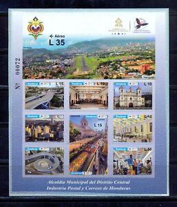 Honduras. Views of Tegucigalpa. Stamp sheet of 2017