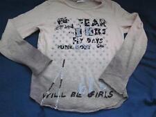 Ikks Punk Rock Girl L/S Tee Shirt Size 126  7 8 8A 616 Stitch Dots Cotton Euro