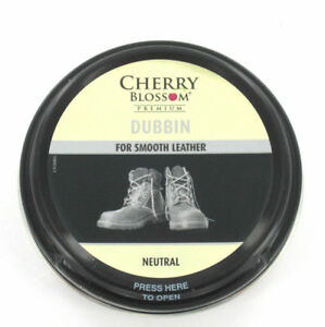 CHERRY BLOSSOM DUBBIN NEUTRAL 50ML TIN WATERPROOFS LEATHER SHOE & BOOT WAX