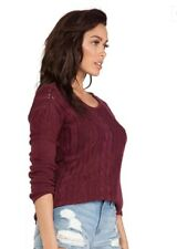 RVCA QUIVER WOMENS KNIT WIDE NECK SWEATER JUMPER