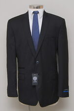 NWT Mens 46L Slim Vince Camuto Black Stripe 100% Wool Blazer