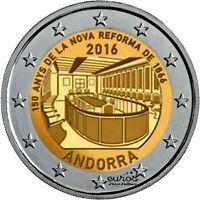 Pièce de 2 euros commémorative ANDORRE 2016 - 150 ans Nouvelle Reforme de 1866