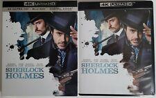 SHERLOCK HOLMES 4K ULTRA HD BLU RAY 2 DISC SET + SLIPCOVER SLEEVE FREE SHIPPING